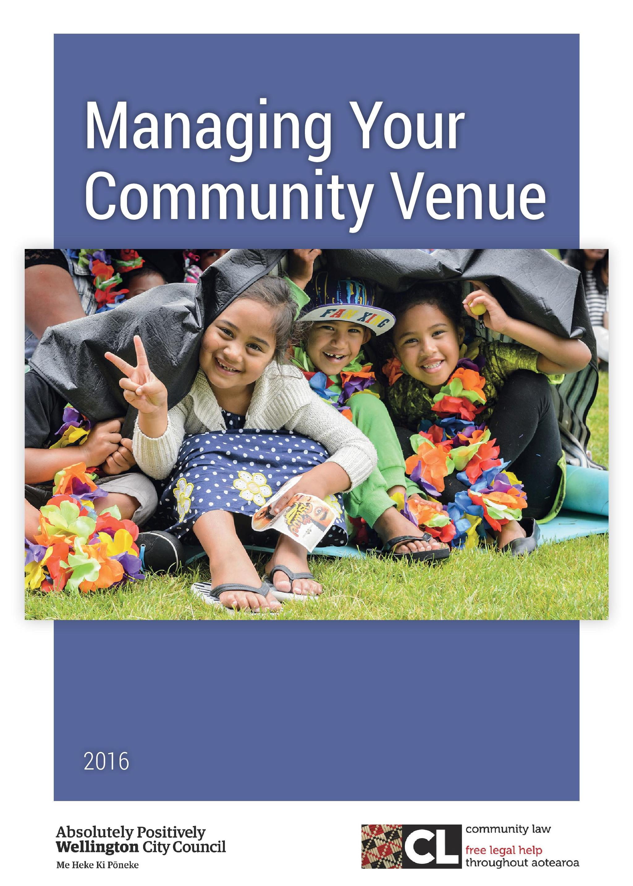 Managing Your Community Venue Cover